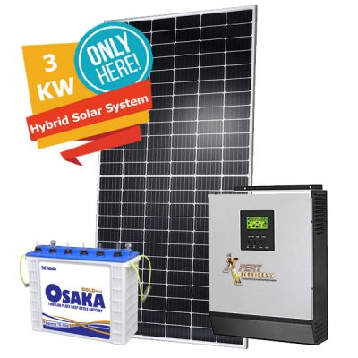 3KW Solar Hybrid System Package